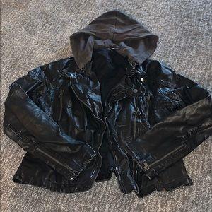 Free People Jackets & Coats - Free People Vegan Hooded Moro Jacket